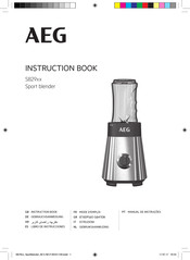 AEG SB29 Series Instruction Book