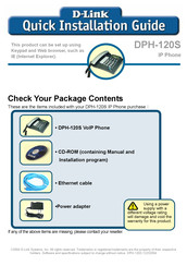 D-Link DPH-120S Quick Installation Manual