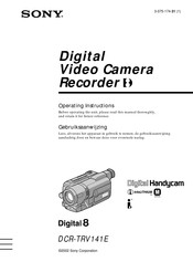 Sony Handycam DCR-TRV141E Operating Instructions Manual