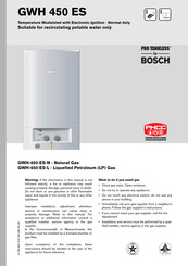 Bosch Pro Tankless GWH-450-ES-L Manual