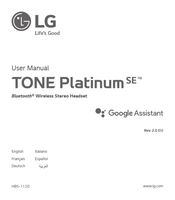 LG TONE PLATINUM SE HBS-1120 User Manual
