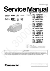 Panasonic HC-V270PP Service Manual