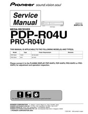 Pioneer PDP-R04U - Plasma Display Media Receiver Service Manual