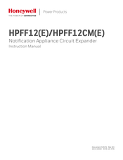 Honeywell HPFF12E Instruction Manual