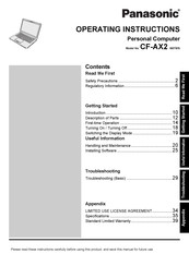 Panasonic CF-AX2 Series Operating Instructions Manual