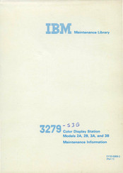 IBM 3279 3B Maintenance Information