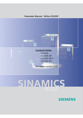 Siemens CU240S DP-F Parameter Manual