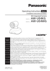 Panasonic AW-UE4 Series Operating Instructions Manual