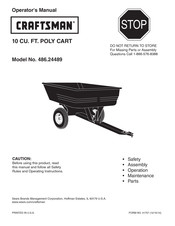 Craftsman 486.24489 Operator's Manual