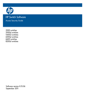 HP ProCurve 5400zl Series Access Security Manual