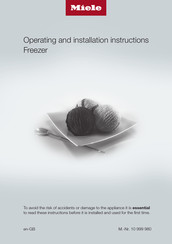 Miele FNS 28463 E ed/cs Operating And Installation Instructions
