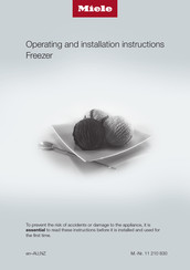 Miele FNS 28463 E ed Operating And Installation Instructions
