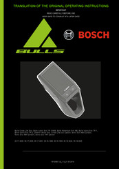 Bosch Cross Lite Evo Carbon Operating Instructions Manual