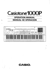 Casio Casiotone 1000P Operation Manual