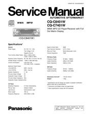 panasonic cq-c8401w service manual pdf download   manualslib  manualslib