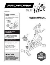 Pro Form Le Tour De France Clc User Manual Pdf Download Manualslib