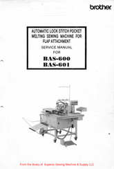 Brother BAS-600 Service Manual