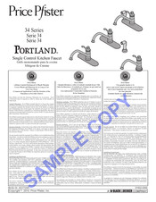 Black & Decker Price Pfister Portland 34 Series Manual