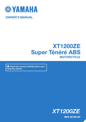 Yamaha Super Tenere ABS XT1200ZE Owner's Manual