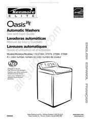 Kenmore Elite Oasis HE 110.2708 Series Use And Care Manual