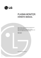 LG 42PC1M-TA Owner's Manual