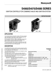 Honeywell S4565SD Instruction Sheet