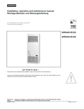 Siemens 8MR6440-5EG30 Installation, Operation And Maintenance Manual