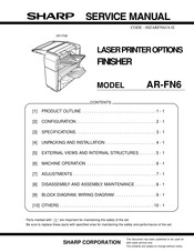 Sharp AR-FN6 Service Manual