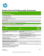 HP Chromebook Enterprise x360 14E G1 Product End-Of-Life Disassembly Instructions
