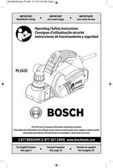Bosch PL1632 Operating/Safety Instructions Manual