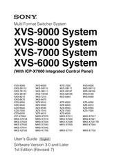Sony ICP-X7000 User Manual