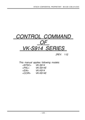 Hitachi VK-S914E Control Command