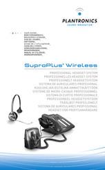 Plantronics Suproplus Headset System Manuals Manualslib