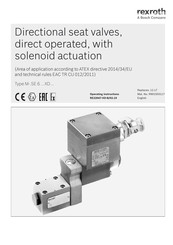 Bosch Rexroth M SE 6 XD Series Operating Instructions Manual