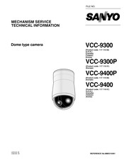 Sanyo VCC-9400 Mechanism Service Technical Information