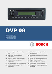 Bosch 7 620 320 028 Operating And Installation Instructions