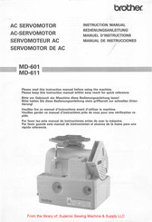 Brother MD-601 Instruction Manual