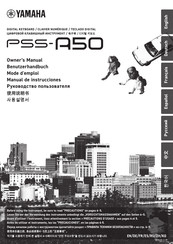 Yamaha PSS-A50 Owner's Manual