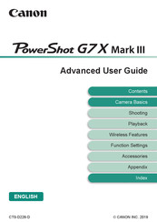 Canon PowerShot G7X Mark III Advanced User's Manual