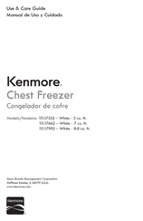 Kenmore 111.17552 Use & Care Manual