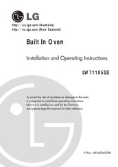 LG LW71105SS Installation And Operating Instructions Manual