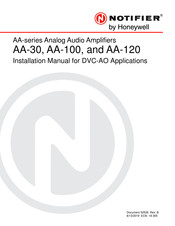 Honeywell NOTIFIER AA-120 Installation Manual