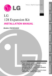 LG 128 Expansion Kit Installation Manual