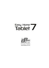 Best Buy Easy Home Tablet 7 Manuals Manualslib
