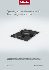 Miele SmartLine CS 7101 Operating And Installation Instructions