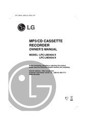 LG LPC-LM345A/X Owner's Manual