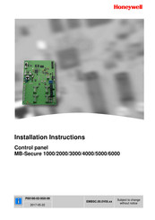 Honeywell MB-Secure 2000 Installation Instructions Manual