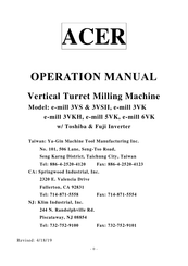 Acer e-mill 6VK Operation Manual