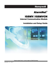 Honeywell AlarmNet IGSMV Installation And Setup Manual
