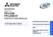 Mitsubishi Electric FR-LU08 Instruction Manual